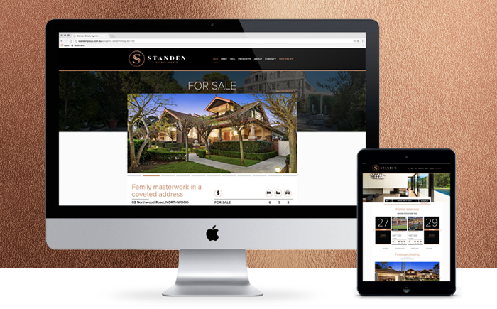 Standen Estate Agents Website Design
